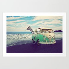 NEVER STOP EXPLORING THE BEACH Art Print