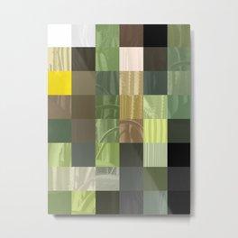 Cactus Garden Abstract Rectangles 3 Metal Print