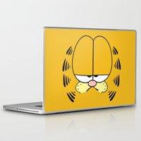 garfield Laptop & iPad Skins featuring Garfield Face by julien tremeau