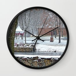 Duck Pond at Ste. Marie Du Lac Wall Clock