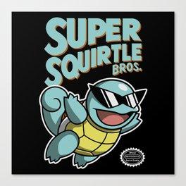 Super Squirtle Bros. Canvas Print