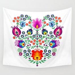 Folk Pattern - Flower Wall Tapestry