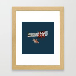 Floating by the Torii Gate Framed Art Print