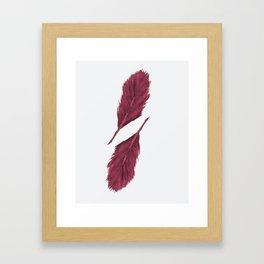 Twin Feathers - bordeux Framed Art Print