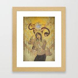 Tammazzo l'anima di pugni e tradimenti Framed Art Print