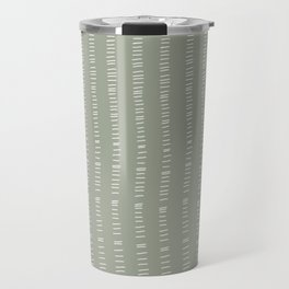 succulent green lines Travel Mug