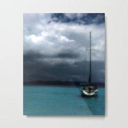 Stormy Sails Metal Print