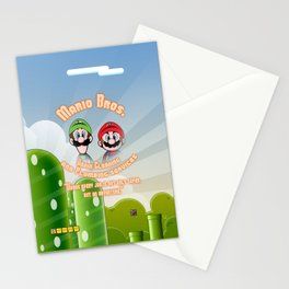 Super Mario Bros. Drain Cleaning & Plumbing Service Stationery Cards