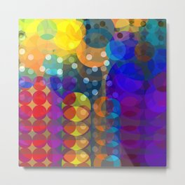 Bubbles from the Rainbow Metal Print