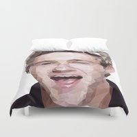 niall horan Duvet Covers featuring Niall Horan - One Direction by jrrrdan