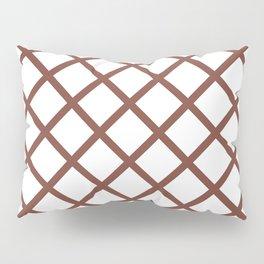 Criss-Cross (Brown & White Pattern) Pillow Sham