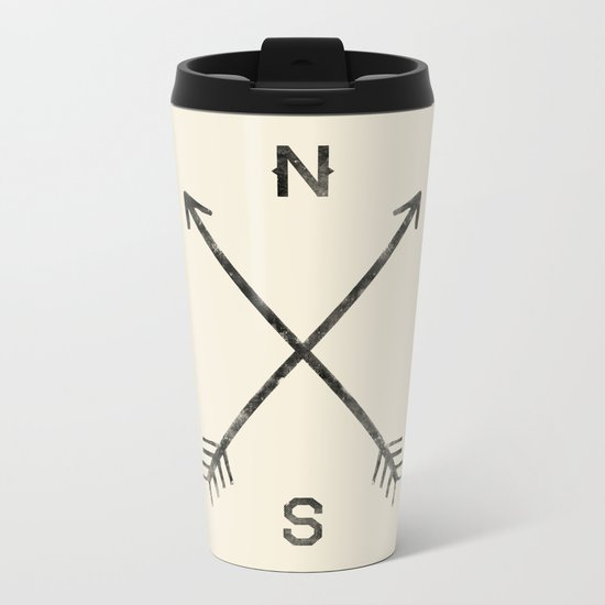 Compass (Natural) Metal Travel Mug