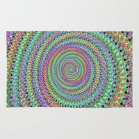 disco Area & Throw Rugs featuring disco by Maureen Popdan
