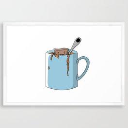 Teabag and mug Framed Art Print