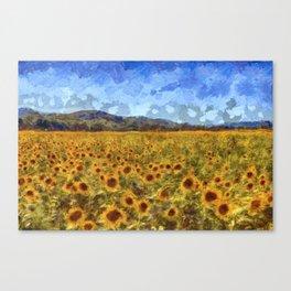 Vincent Van Gogh Sunflowers Canvas Print
