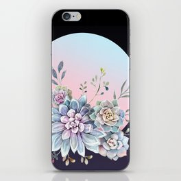 Succulent full moon iPhone Skin