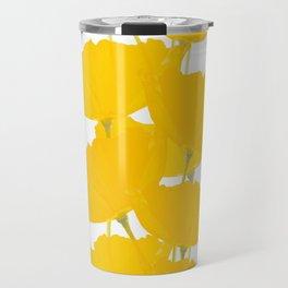 Yellow Mellow Poppies On A White Background #decor #society6 #buyart Travel Mug