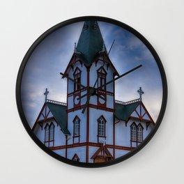 Husavik Church Iceland Wall Clock
