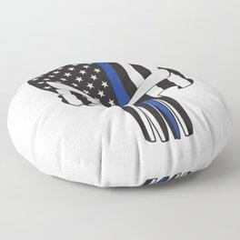 Punisher Skull American Flag Thin Blue Line Floor Pillow