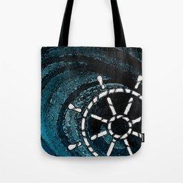 NAUTICAL CHIC (WHEEL) Tote Bag