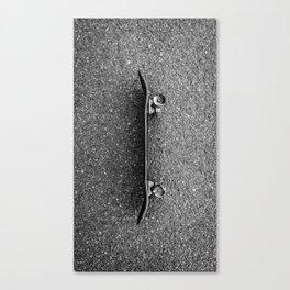 Resting Skateboard Canvas Print