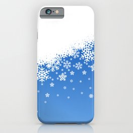 Blue Snowflakes iPhone Case