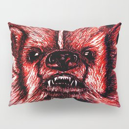 Badger Bad Red Pillow Sham