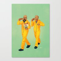 breaking bad Canvas Prints featuring Breaking Bad by Dave Collinson