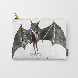 Halloween Welcome to the Ball Vampire Bat Greeting Card Carry-All Pouch
