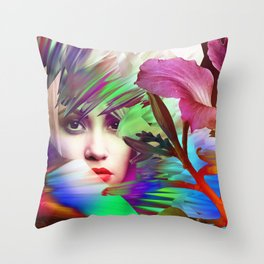 Her Weary Travel's End Throw Pillow