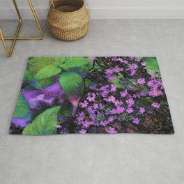 Purple Flowers by Lika Ramati Rug