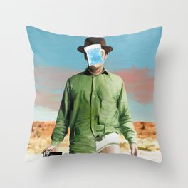 Les Cristaux de l'Homme Throw Pillow