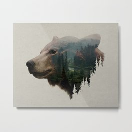 The Pacific Northwest Black Bear Metal Print
