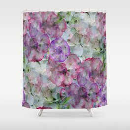 Mesmerizing Floral Abstract Shower Curtain