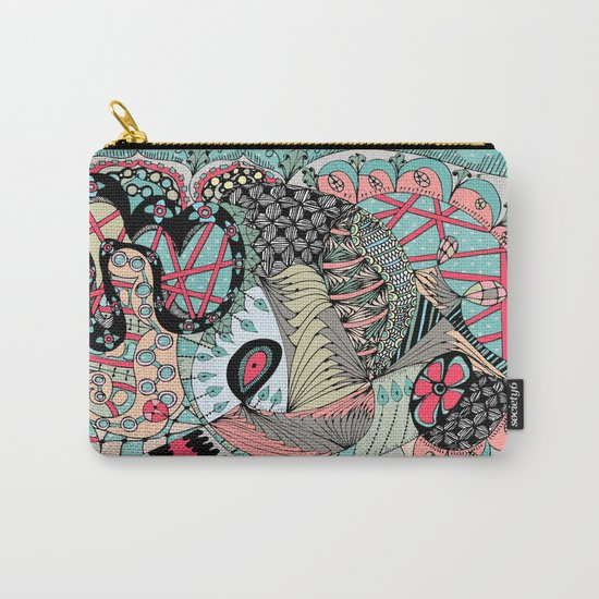 The eye looking flower Carry-All Pouch