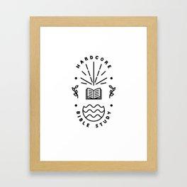 Hardcore Bible Study Framed Art Print