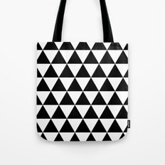 Triangles (Black/White) Tote Bag