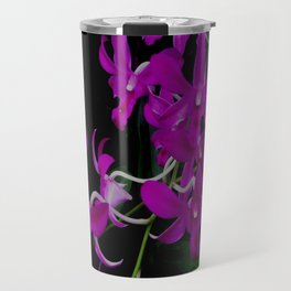 Purple Orchid Flower By Saribelle Rodriguez Travel Mug