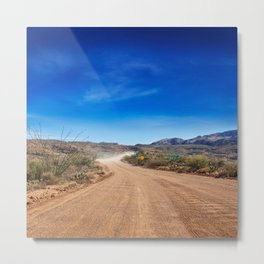 Apache Trail dirt road Metal Print