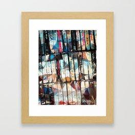 Musical Cassette Tapes Collage Framed Art Print