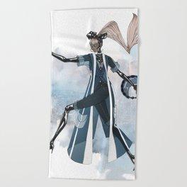 Blue New York City Beach Towel