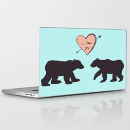 Polar Bear Love Laptop & iPad Skin