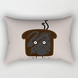 Happy Burnt Toast Rectangular Pillow