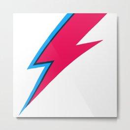 Bowie Lightning Bolt Face Paint Metal Print