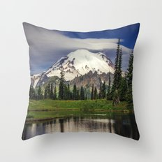 Mt Rainier in Washington Throw Pillow