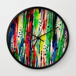 Disjointed Stripes Wall Clock