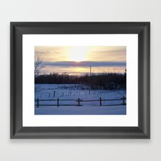 in the middle of nowhere i found myself Framed Art Print