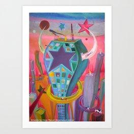 Ciudad y ojo 2 by Diego Manuel Art Print