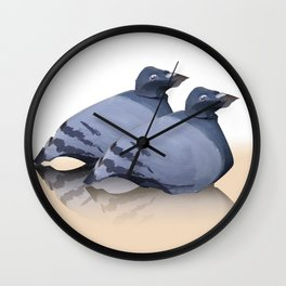 Two Pigeons Wall Clock