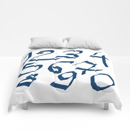 Chiffres bleus Comforters